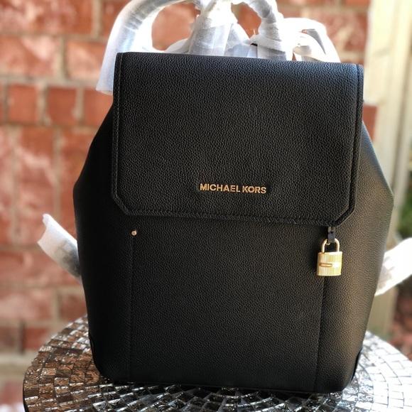 2211bc62f9ec Michael Kors Bags   Hayes Backpack Pebble Leather Black   Poshmark